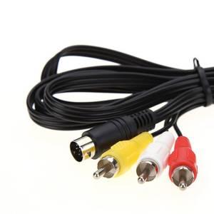 Image 3 - Кабель адаптер ALLOYSEED для аудио и видеосъемки, 1,8 м, 9Pin, 3RCA, AV, для Sega Genesis 2, 3 игр, A/V, для SEGA Genesis II/III