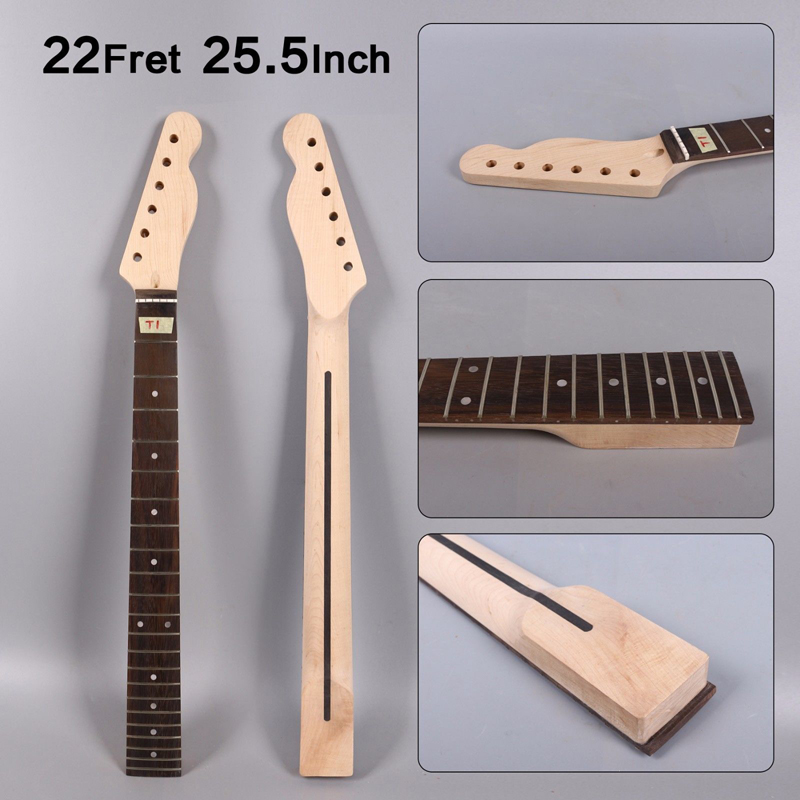 Shoes Unfinished Maple Guitar Neck 22 Fret 25.5inch Electric Guitar Project