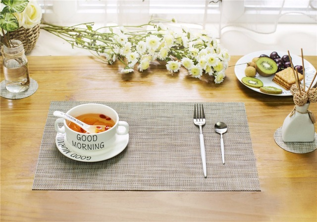 1PC PVC Placemat Dining Table Mats Set Bowl Pad Napkin Tray Mat Coasters
