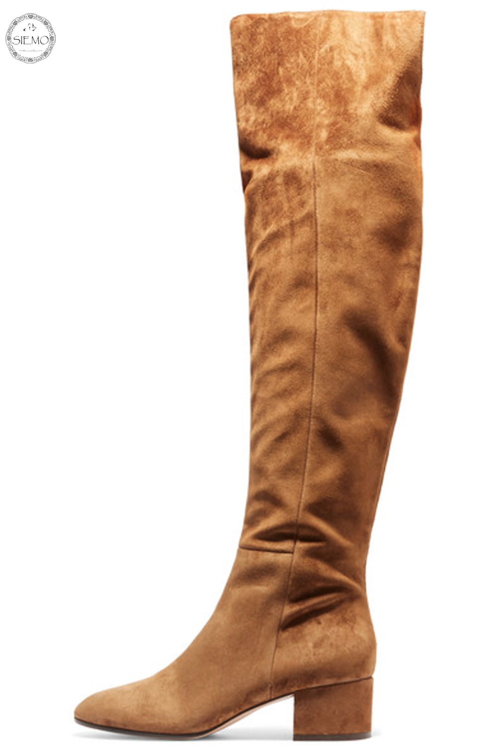 84c23fec65e Siemo Fashion Women Round Toe Low Heel Over the Knee Boots Casual Winter  Ladies Dress Shoes US Size 4 17 Big Size Customizable-in Over-the-Knee Boots  from ...