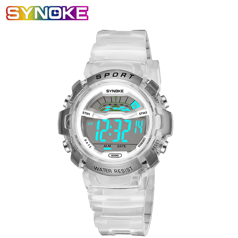 SYNOKE Sports Watches For Girls Boys Large Small Sizes Teenage Watch Girls Kids Boys Digitally Watches Waterproof 2019