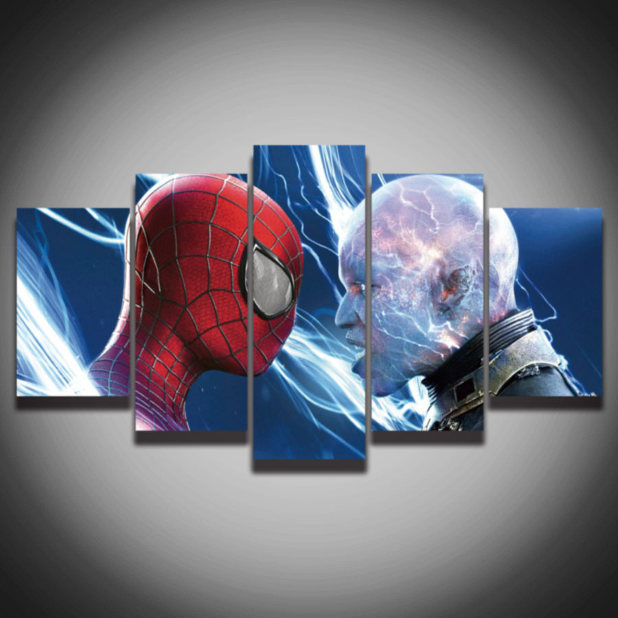 unframed 5 sets the cool spiderman painting canvas wall art picture home decor living room canvas