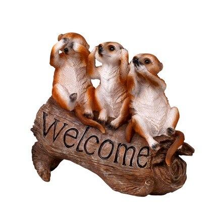 Garten mongoose Willkommen Zeichen Garten Grönland Willkommen Zeichen Pastoralen Stil Tier Dekoration Villa Dekorationen freies verschiffen-in Garten Statuen & Skulpturen aus Heim und Garten bei  Gruppe 3