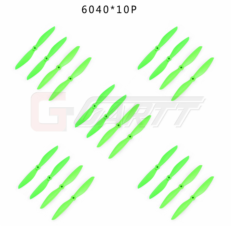 KINGKONG 10 Pairs <font><b>6040</b></font> green color CW CCW Plastic <font><b>Propeller</b></font> For Quadcopter Multicopter image
