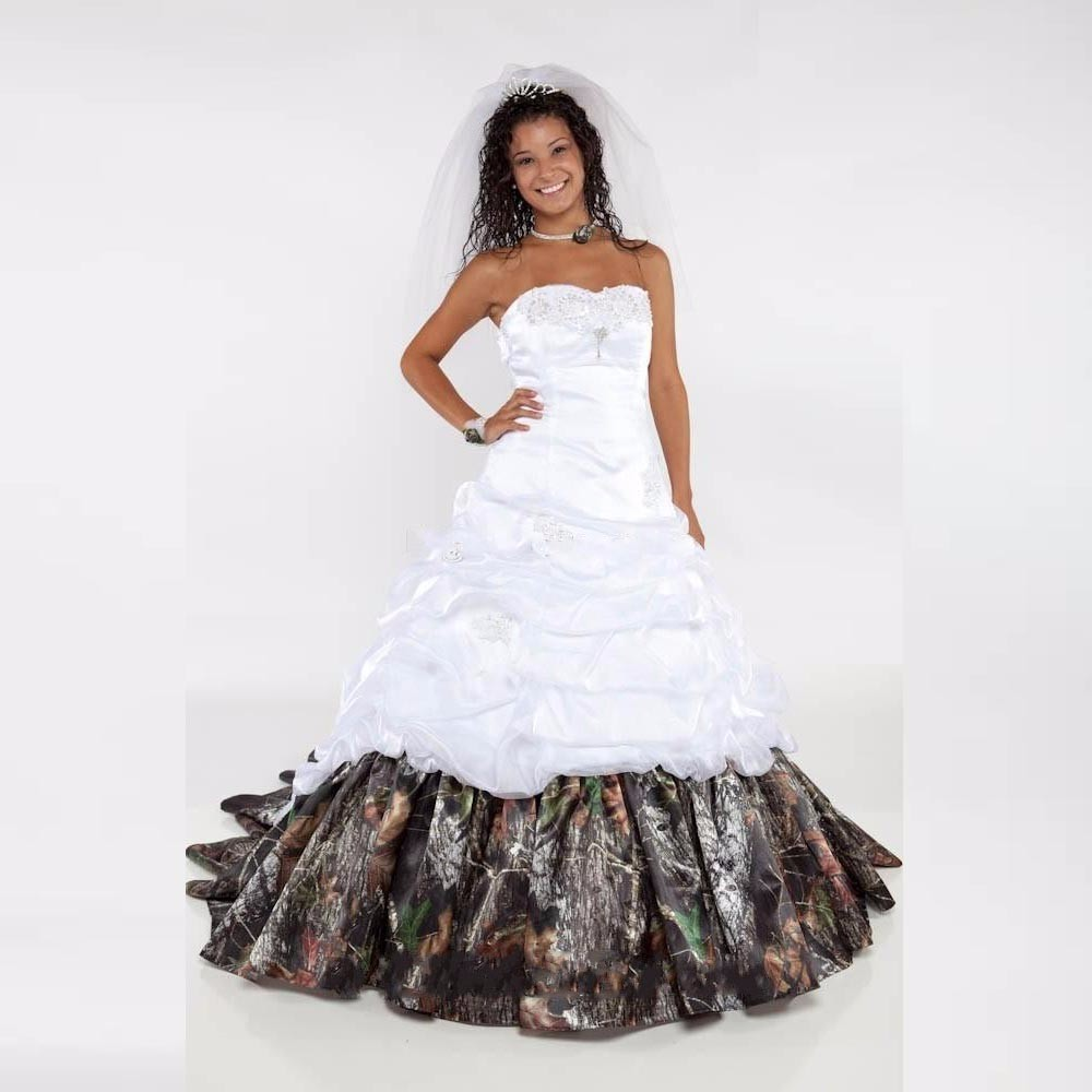 46f0d064c0b51 custom made cheap white realtree camo wedding dresses 2016 long vestidos de  novia camouflage bridal gowns