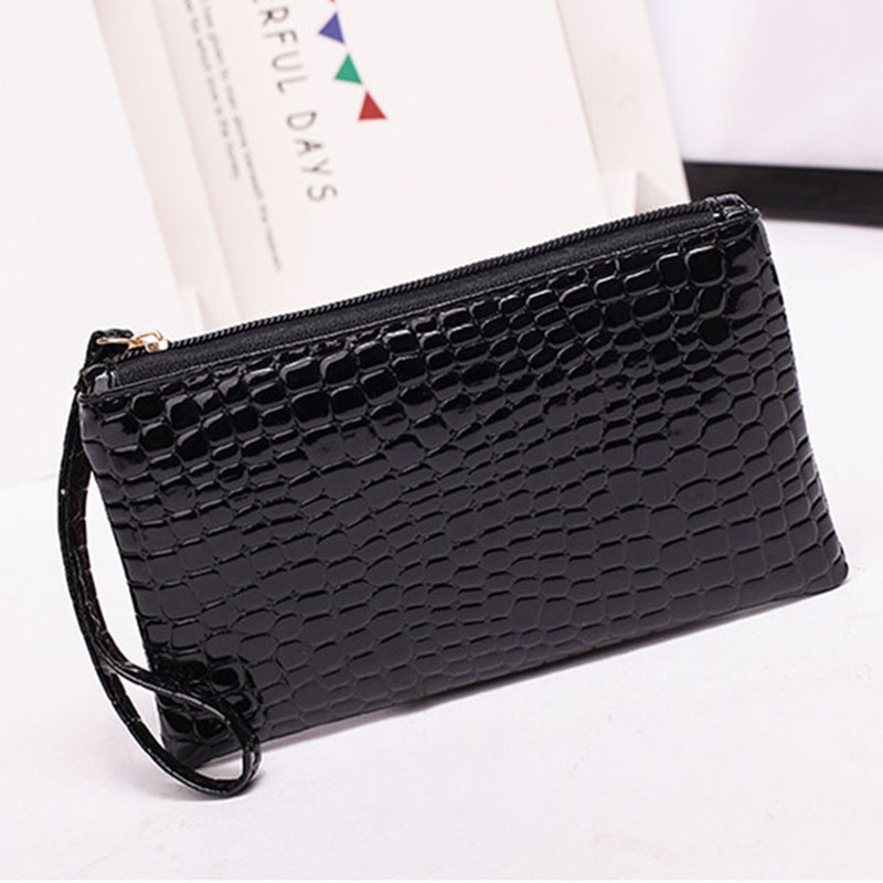 New Mini Day Clutches Women's Bag Korean Version Crocodile Pattern Clutch Bag Ladies Mobile Phone Bags Wallet PU Leather Handbag (15)