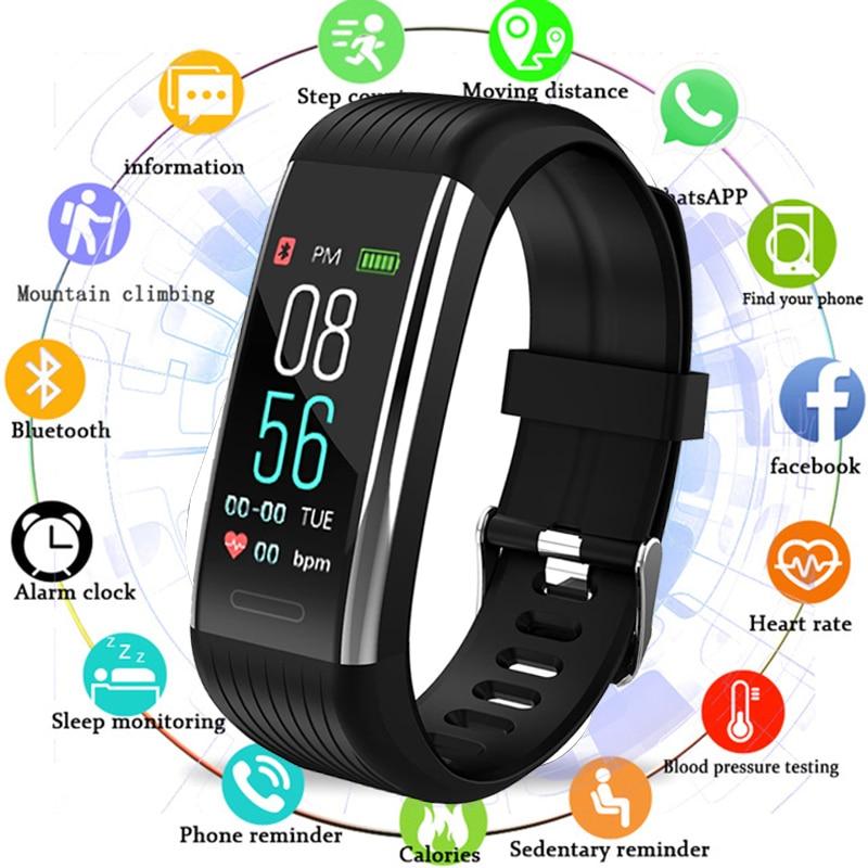 Fitness Bracelet Heart Rate Monitor Pedometer Smart Bracelet Blood Pressure Fitness Tracker Smart Watch Men Women Waterproof