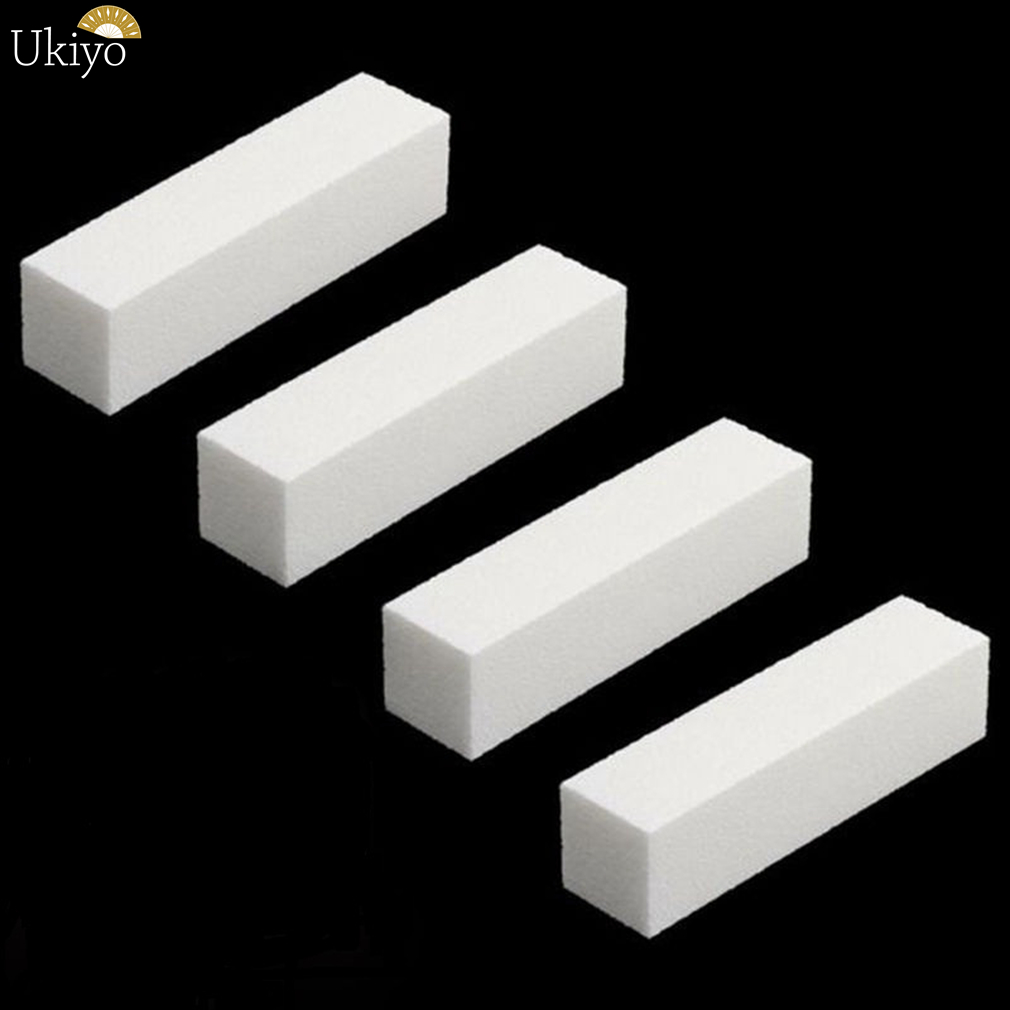 Ukiyo 4 Pieces/lot Sanding Sponge Buffer Block Nail File For UV Gel Nail Polish DIY Manicure Pedicure Tool Nail Art Buffer File