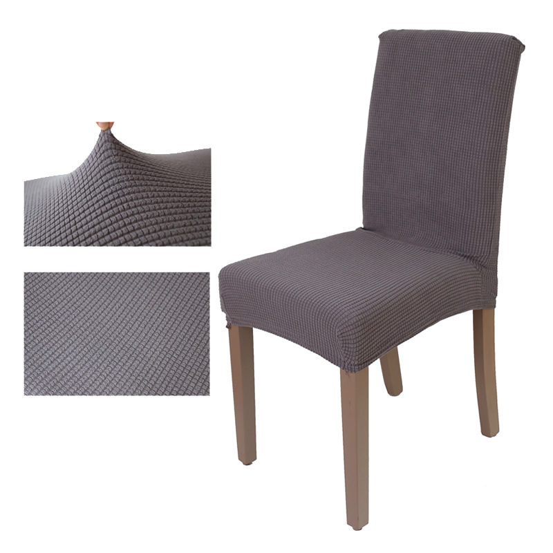 Jacquard Checked Flower Stretch Removable Washable Short Dining Chair Cover Protector Seat Slipcover For Hotel Room