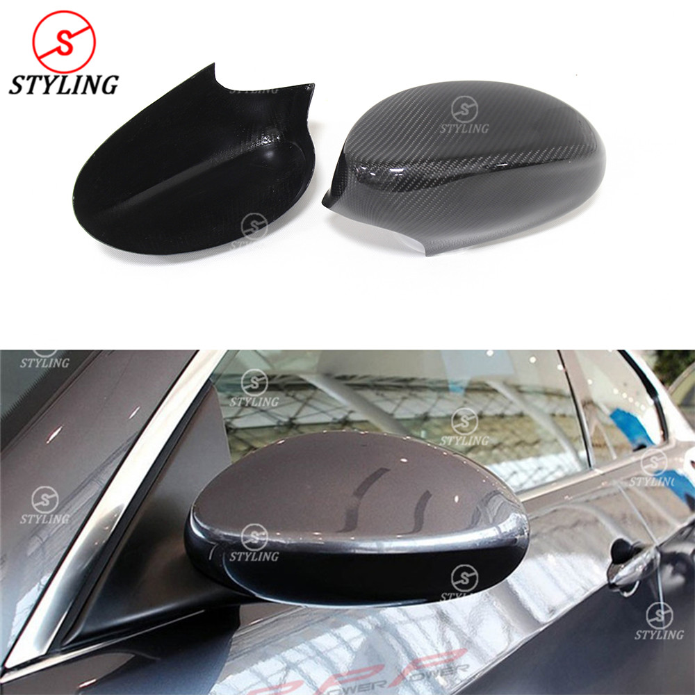 For BMW 3 Series E92 E93 Carbon Mirror Cover 2005 - 2012 Carbon Fiber Mirror Cover Rear View Add on & Replacement style