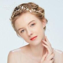 Fashion Girl's Opal Headbands Gold Leaf Wedding Bridal Hair Accessories Women Hair Vine Pearl bridesmaid Hair Jewelry Headpiece все цены