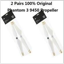 2คู่100%เดิม9450ใบพัดสำหรับDJI P Hantom 3มืออาชีพตนเองกระชับใบพัดสำหรับผี3อุปกรณ์เสริม