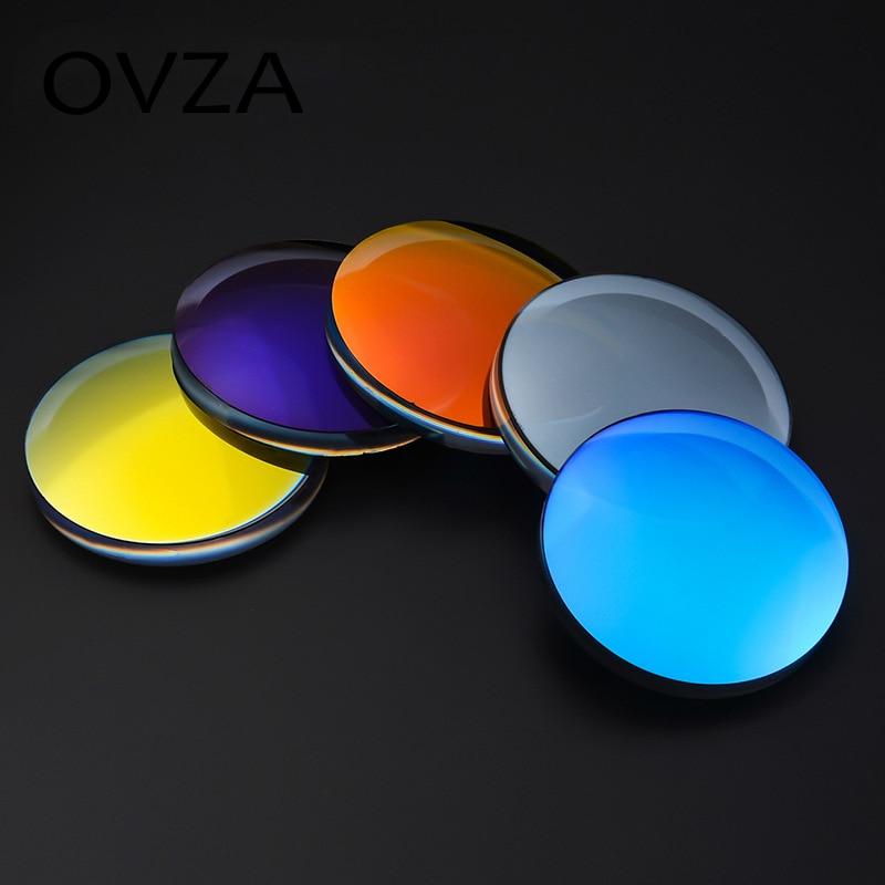 d80e327232 Ovza Free Form Polarized lenses Colorful Reflective UV400 Myopic glasses  lenses 1.50 Anti-UV Goggles