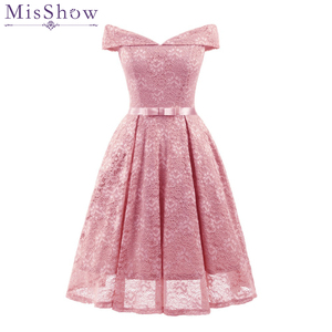 Image 5 - New Sexy Short Evening Dress Lace Wine Red pink A line Party Formal Dress Homecoming Graduation Dresses with sash Robe De Soiree