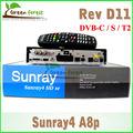 Receptor de satélite SUNRAY A8P D11 Sintonizador Triplo DVB-S (S2)/C/T/T2 dm800hd se triplo Sunray sr4 800hd se wi-fi sintonizador