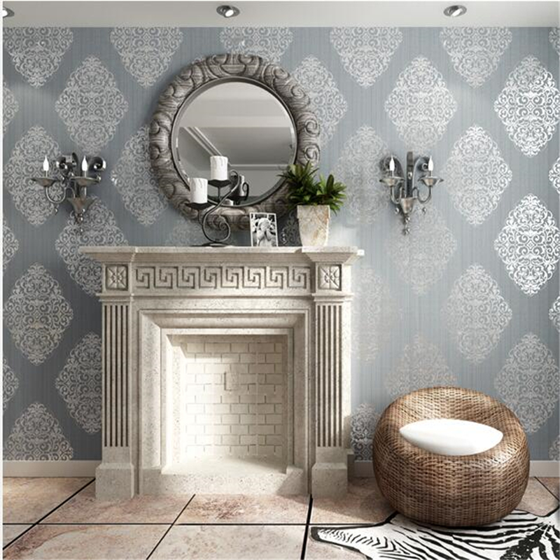 Beibehang papel de parede Bedroom living room TV backdrop European style wallpaper Damascus nonwovens wallpaper 3d wallpaper beibehang american wooden imitation clothing store 3d stereo wooden wallpaper mediterranean living room bedroom papel de parede