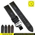 18/19/20/22/24mm venta caliente de cuero genuino reloj de correa de reloj negro marrón accesorios para tissot reloj pulsera de la correa 1853 watchbnd + herramientas