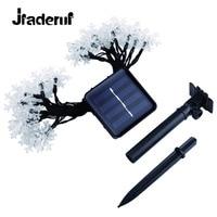 Jiaderui 4 메터 20LED 눈송이 태양 방수 야외 태양 램프 크리스마스 웨딩 홈 정원 장식 화환 조명
