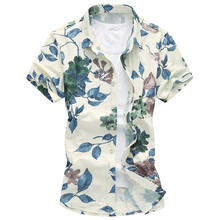 купить Summer Men Shirt 2018 New Style Hawaiian Flower Print Man Breathable Shirts Slim Fit Shirt Casual Turn-down Collar Male Tops по цене 1010.84 рублей