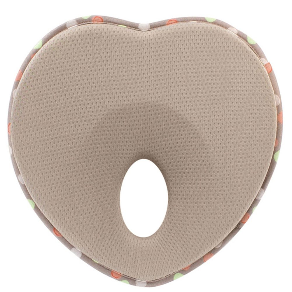 Memory Foam Baby Pillow Cushion Positioner Sleeping Infant Heart Shape Protection Flat Head Anti Roll Nursing Bedding Toddler