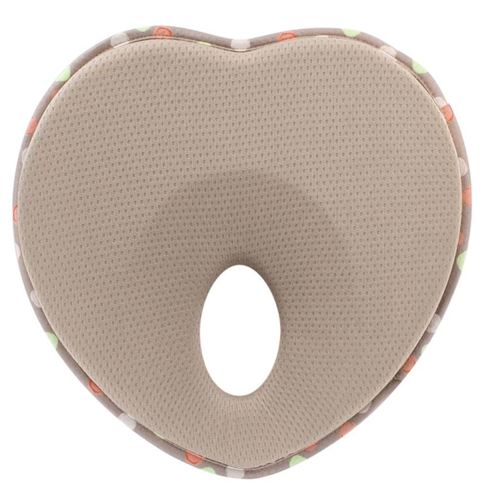 Memory Foam Baby Pillow Cushion Positioner Sleeping Infant Heart Shape Protection Flat Head Anti Roll Nursing Bedding Toddler