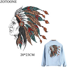ZOTOONE DIY Indians Pyrography Patches Thermo-stickers For Clothes Jeans Heat Thermotransfer Appliqued Clothing Dresses B