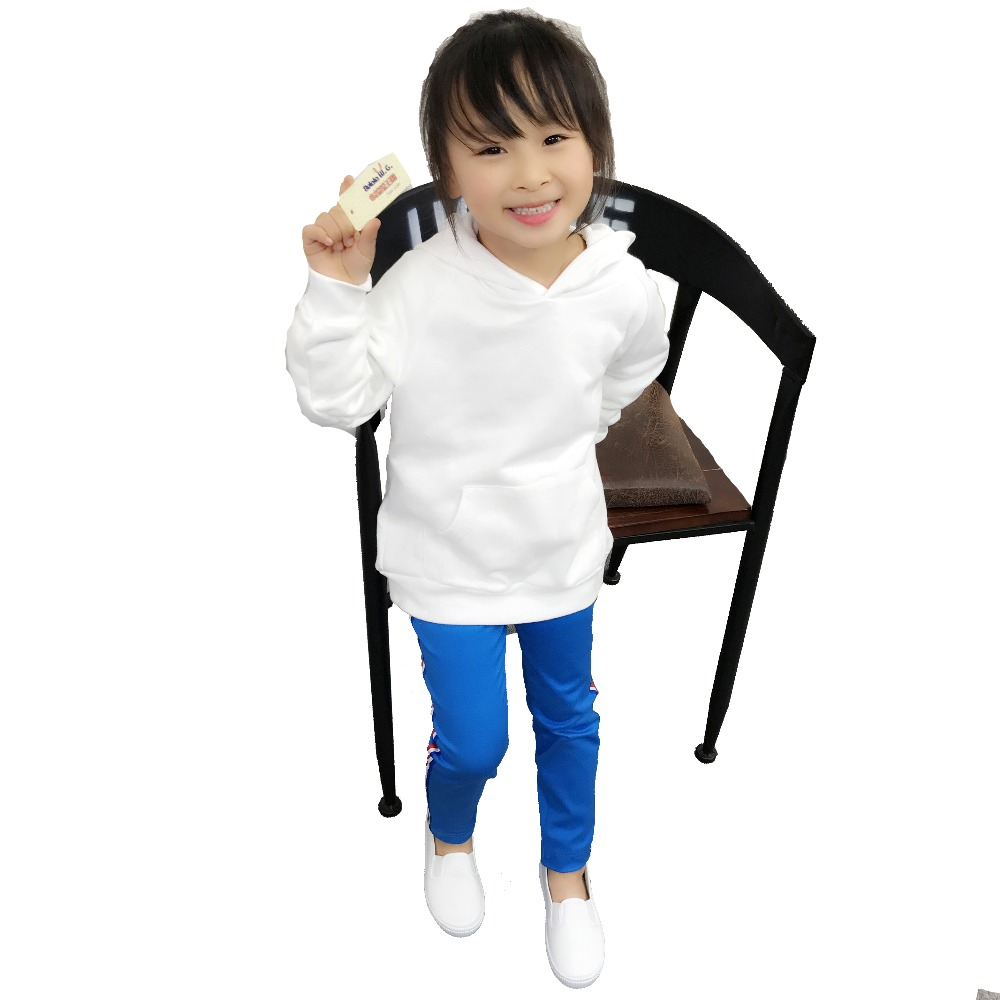 Image 5 - Spring Children Boys White Sweatshirts Kids Pure Color Hoodies Cotton Girl Pullover Tops Single Layer Outerwear Clothes 1 17 YrsHoodies & Sweatshirts   -