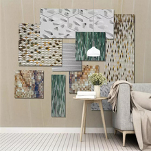 Modern simple style 3D abstract sitting room background wall