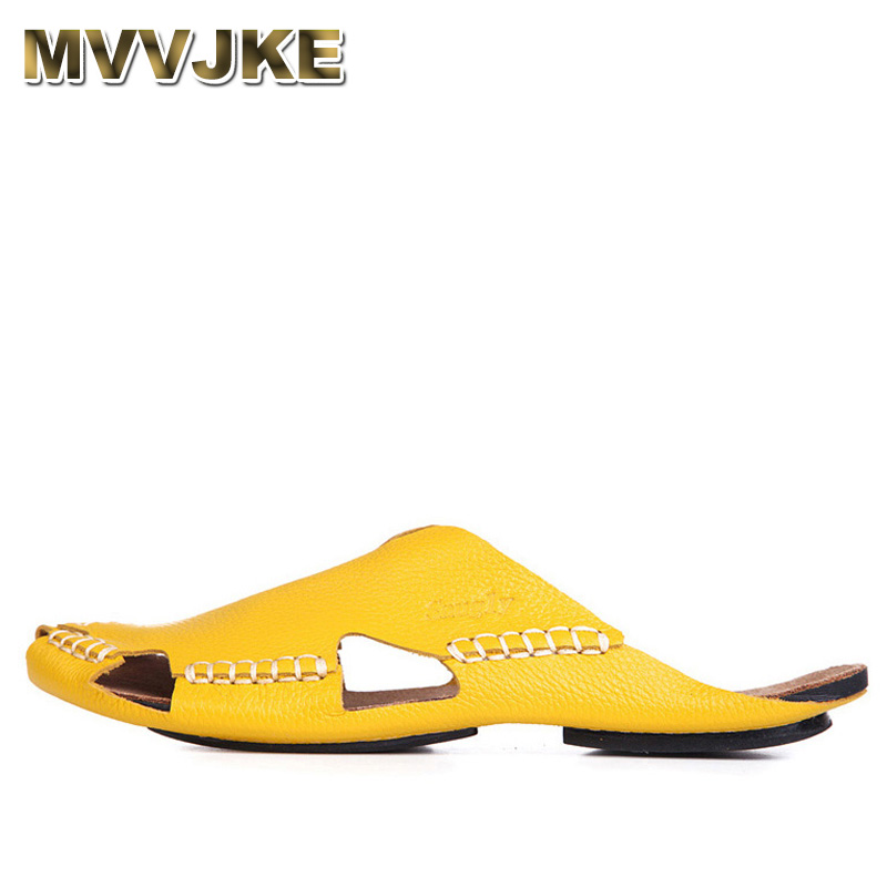 MVVJKE 35 45 Women Sandals 100% Authentic Leather Gladiator Sandals Women Summer Shoes Beach Slides Ladies Shoes-in Women's Sandals from Shoes    1