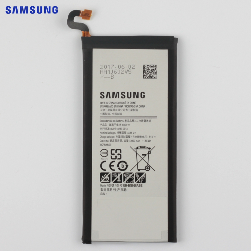 SAMSUNG Original Battery EB-BG928ABE For Samsung GALAXY S6 edgePlus SM-G9280 G928P G928F G928V G9280 G9287 S6edge+ 3000mAh
