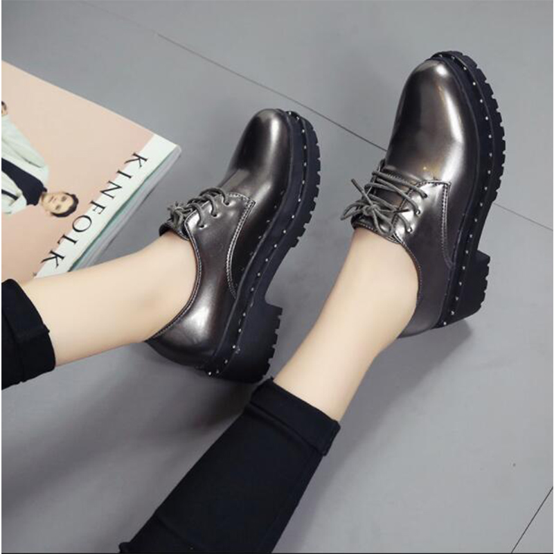 Dropshipping Women Shoes Genuine Leather Oxford Shoes For Women Flats Shoes Woman Ballet Flats Zapatos Mujer XXZ58
