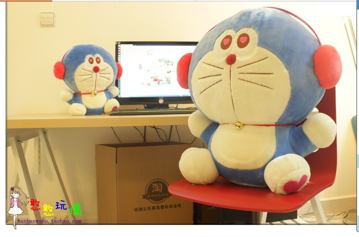 NEW STuffed plush toy 52cm headset Doraemon doll about 20 inch soft Toy birthday gift wt4858