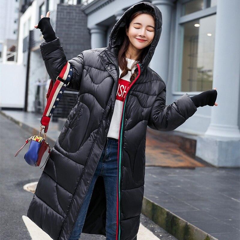 2018 Survêtement Black Mode Lâche Veste Nouvelle Coton Long Capuche Grande Femmes Hiver D'hiver Chaleur Manteau Extérieure Taille Cw048 wwUPqp