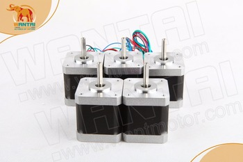 цена на [5-7days ship]EU free!(Germany Stock) 5PCS Wantai 4-lead Nema 17 Stepper Motor 42BYGHW811 70oz-in 48mm 2.5A3D Printer bipolar
