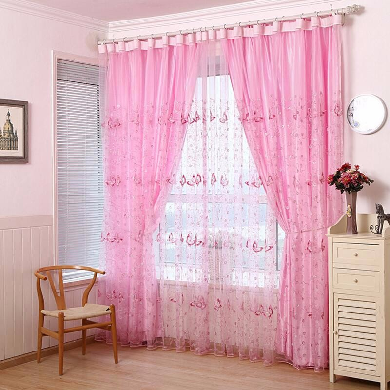 Elegant Beautiful Butterfly Sequin Embroidered Gauze Screens French ...