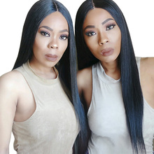 Lace Front Human Hair Wigs For Black Women 250% Density Straight Pre Plucked Hairline With Baby Hair Brazilian Remy Hair CARA