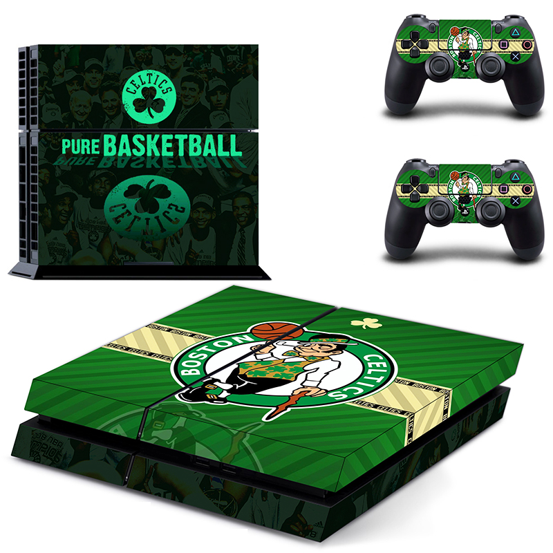 Boston Celtics PS4 Skin Sticker Decal For Sony PlayStation 4 Console and 2 Controllers PS4 Skins Sticker Vinyl ...