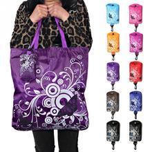 Складная сумка для покупок, сумка на плечо из ткани Оксфорд с бабочкой и цветком, переносная Экологичная сумка для продуктов, многоразовая сумка-тоут для женщин
