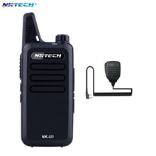 Mini Walkie Talkie NKTECH NK-U1 VS WLN KD-C1 UHF 400-470MHz 5W 16 Channels Handheld Ham Transceiver Two-way Radio +Speaker Mic