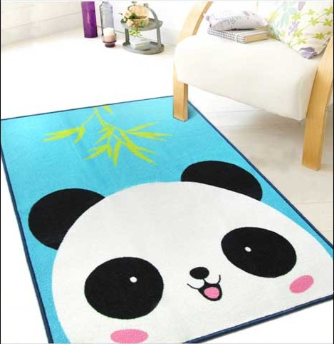 Lovely Panda Rug Children Carpet Kids Rugs 39x51 Inches Cartoon Animal Carpet Baby Mat Baby Crawling Pad/ Game Mat 100cmx130cm