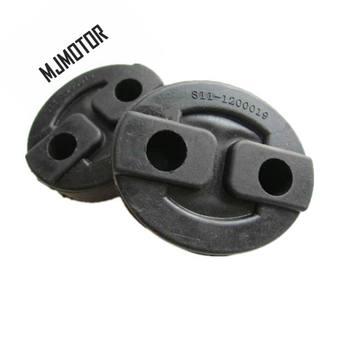 (6 sztuk zestaw) rura wydechowa gumowe wieszaki na chiński CHERY QQ Yoyo E5 X1 M5 Auto części silnika samochodu S11-1200019 tanie i dobre opinie MJMOTOR rubber Exhaust Pipe rubber hangers