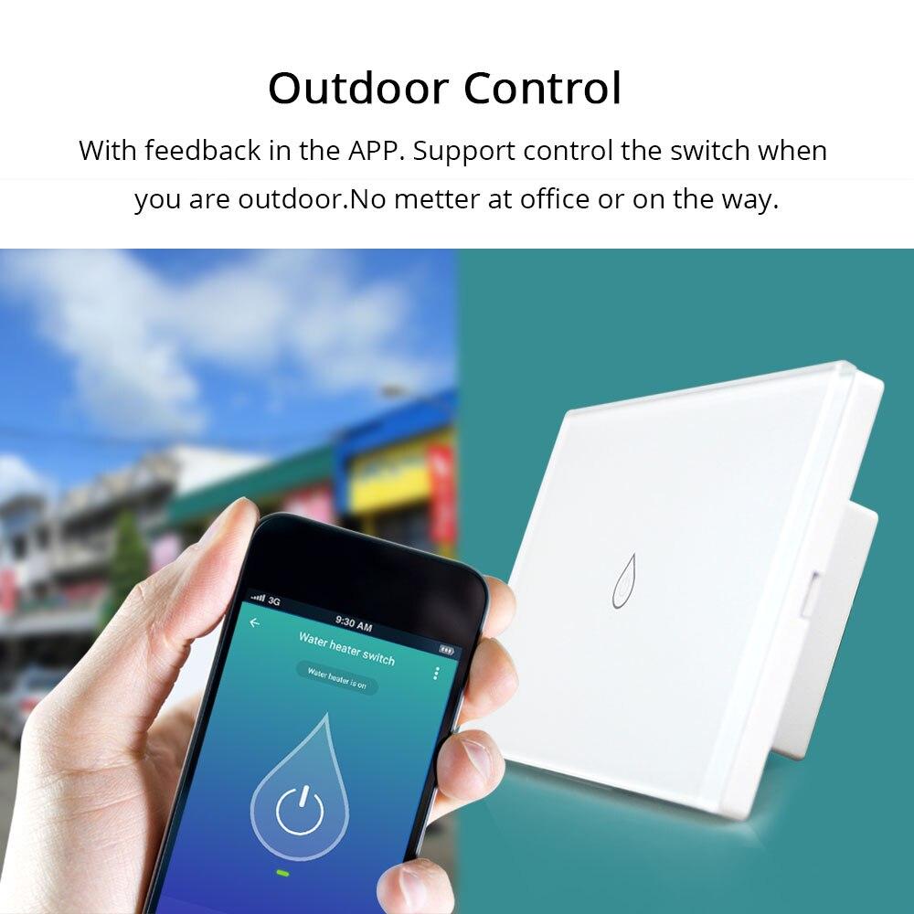 Wifi inteligente calentador de agua interruptor de interruptores Alexa Google Voz estándar temporizador al aire libre de Control remoto