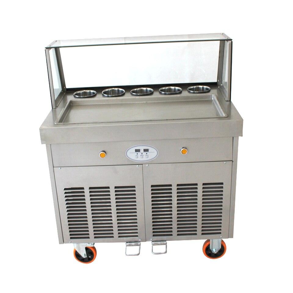 1 square pan 5 boxes Thailand fried ice cream machine,fruit ice cream ,roll ice cream maker with temperature control