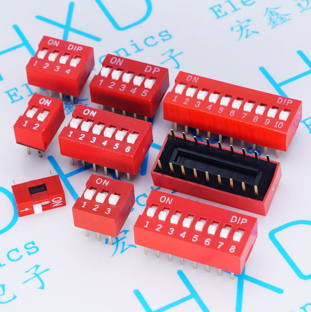 Toggle Switches DIP switch code switch 2.54mm 1P 2P 3P 4P 5P 6P 8P 9P 10P for smart device