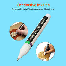 Elecrow Conductive Ink Pen Electronic Circui Draw Circuits Instantly Magical Pen DIY Student Maker Conductive Ink Magic Gift 0 3ml conductive silver paint pen conductive pen for repair keyboard pcb circuit cpu thermally conductive silicone