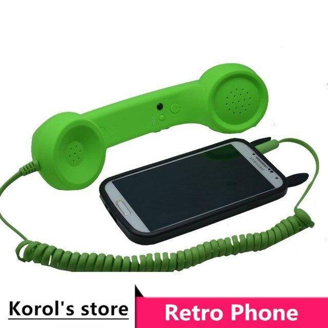 2016 vendite Calde di modo Retro microtelefono del telefono specificamente sul telefono cellulare anti-radiazioni Cuffie di telefonia mobile trasporto libero