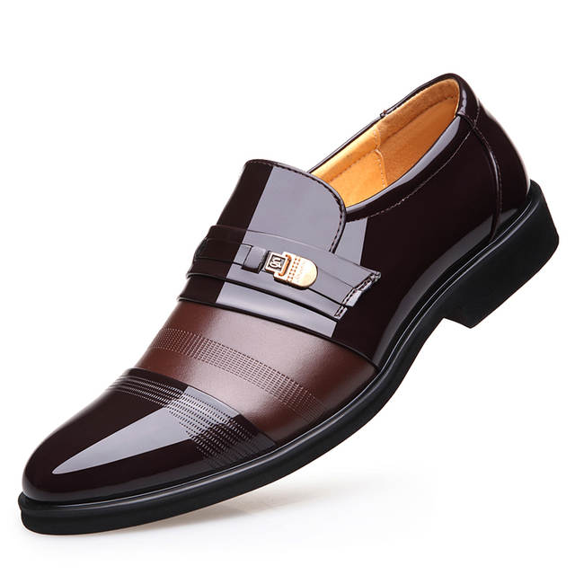 best selling best price official site Men Flats Breathable Formal Shoes Black Brown Pointed Toe ...