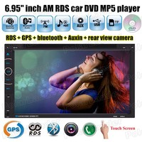 6.95 дюймов карты памяти 2 дин dvd-плеер MP5 USB громкой связи Bluetooth FM/AM RDS 10 языки USB ауксина сенсорный экран GPS