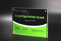 14 8 21CM A5 Thickness 23mm Magnetic Display Stand Poster Photo Frame Acrylic Table Menu Service