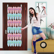 The Door Storage Rack Slippers Rack on Wall Multilayer Storage Shelf Simple Shoes Rack